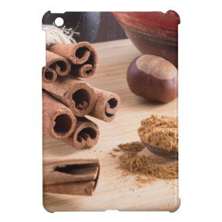 Cinnamon sticks and powder iPad mini cases