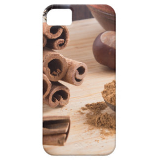 Cinnamon sticks and powder iPhone 5 cover