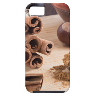 Cinnamon sticks and powder tough iPhone 5 case