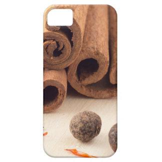 Cinnamon sticks, aromatic saffron and pimento iPhone 5 case