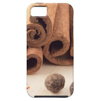 Cinnamon sticks, aromatic saffron and pimento iPhone 5 covers