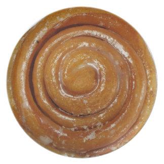 Cinnamon Swirl Glazed Donut - Full sized Plate