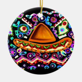 CINO DE MAYO ROUND CERAMIC DECORATION