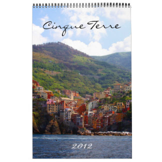 cinque terre calendar 2012