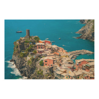 Cinque Terre in Italy Wood Print