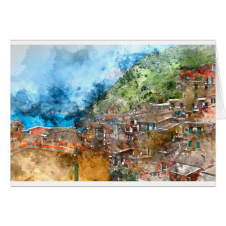 Cinque Terre in the Italian Riviera Card
