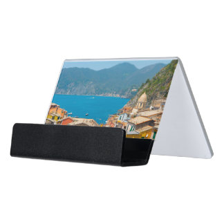 Cinque Terre in the Italian Riviera Desk Business Card Holder