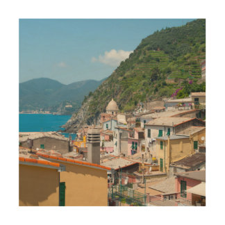 Cinque Terre in the Italian Riviera Wood Wall Art