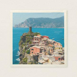 Cinque Terre Italy Disposable Napkins