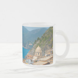 Cinque Terre Italy in the Italian Riviera Frosted Glass Coffee Mug
