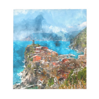 Cinque Terre Italy in the Italian Riviera Notepad