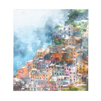 Cinque Terre Italy Watercolor Notepad