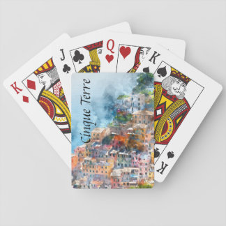 Cinque Terre Italy Watercolor Playing Cards