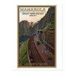Cinque Terre Railway - Manarola Post Card