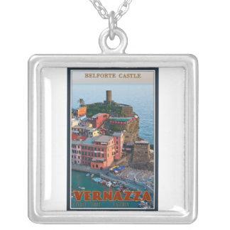 Cinque Terre - Vernazza Belforte Castle Silver Plated Necklace