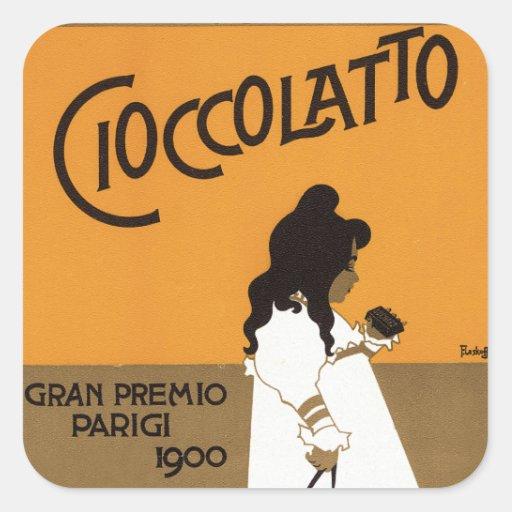 Cioccolato Suchard Square Sticker