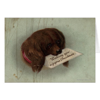 Circa 1860: A Victorian Christmas card