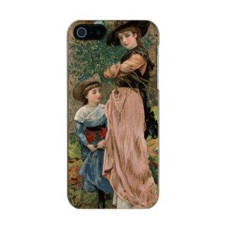 Circa 1870: Young girls collecting mistletoe Incipio Feather® Shine iPhone 5 Case