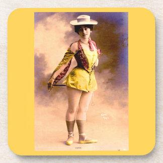 circa 1890 Vera nightclub artiste Coaster