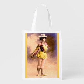 circa 1890 Vera nightclub artiste Reusable Grocery Bag