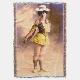circa 1890 Vera nightclub artiste Throw Blanket