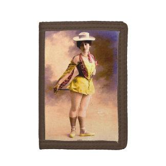 circa 1890 Vera nightclub artiste Trifold Wallets