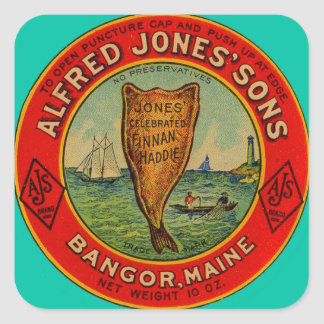 circa 1900 Alfred Jones Sons Finnan Haddie label
