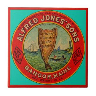 circa 1900 Alfred Jones Sons Finnan Haddie label Ceramic Tile