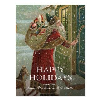 circa 1906:  Santa Claus Postcard