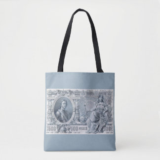 circa 1912 Tsarist Russia 500 ruble bill Tote Bag