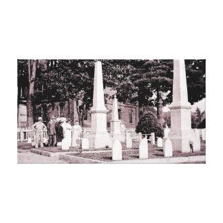 circa 1918 Sepia Cemetery  Watercolor from Photo Canvas Print