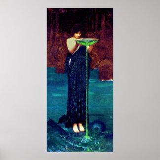 Circë Invidiosa (1892)~ Fine Art Canvas Poster