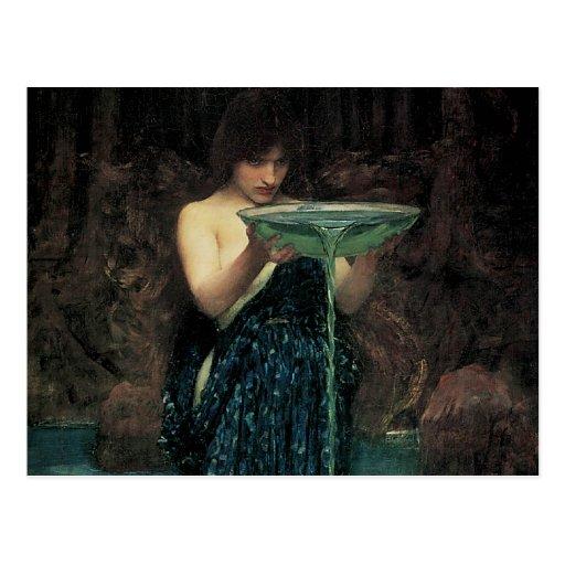 Circe Invidiosa by Waterhouse, Vintage Victorian Postcard