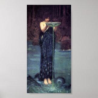 Circe Invidiosa - Circe with a Ponseive Bowl Poster