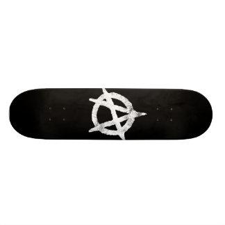 'circle a' anarchy symbol 19.7 cm skateboard deck