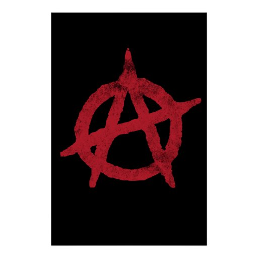 'circle a' anarchy symbol posters