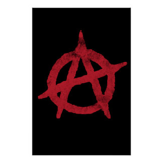 circle a anarchy symbol posters