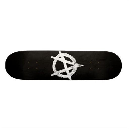 'circle a' anarchy symbol skate decks