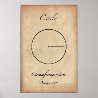 Circle - Ancient Math Poster