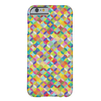 Circle and Diamond Colorful Pattern Design Barely There iPhone 6 Case