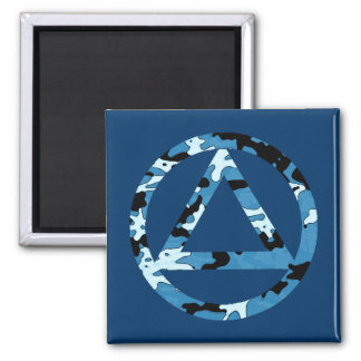 Circle and Triangle Recovery Sobriety Magnet 2 Inch Square Magnet