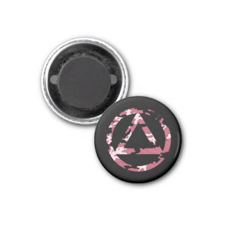 Circle and Triangle Recovery Sobriety Magnet 1 Inch Round Magnet