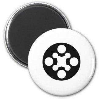 Circle Art Fridge Magnet