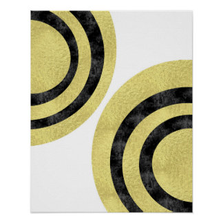 Circle art Modern art Gold foil geometric art Poster