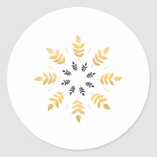 Circle as Sticker with Mandala art