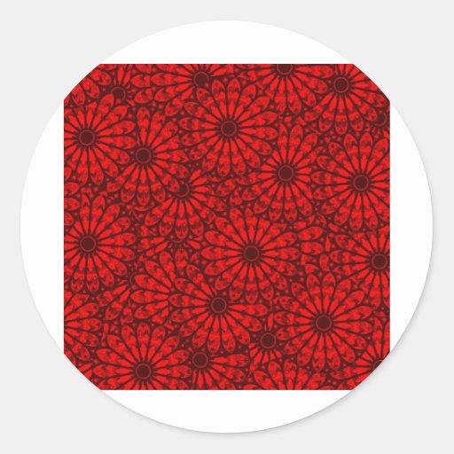 Circle Beautiful Design Style Fashion Fame Floral Sticker