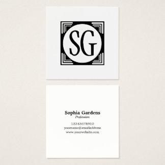 Circle Box - Initials Square Business Card