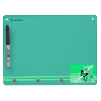 Circle Butterflies 2 Dry Erase Board With Key Ring Holder