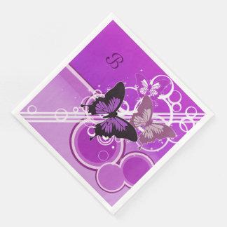 Circle Butterflies 4 Paper Napkin