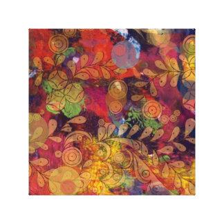 Circle Circus Bold Colored Canvas Print